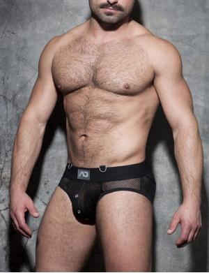 ADDICTED Mesh Mixed Bottomless Brief schwarz