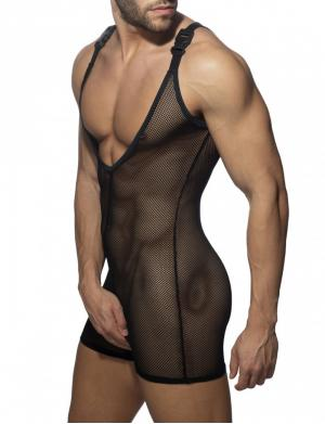 ADDICTED Mesh Wrestling Suit Schwarz