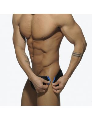 ADDICTED ZIPPER LATERAL DETAIL BRIEF schwarz / royal