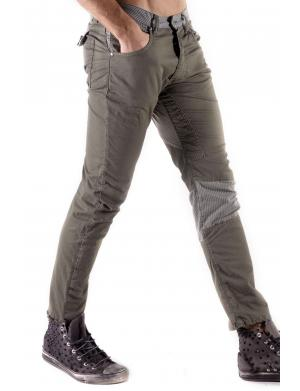 Absolut Joy Chino Sretch Straight Fit army grün