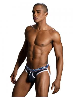 Andrew Christian Almost Naked Retro Mesh Brief Jock navy