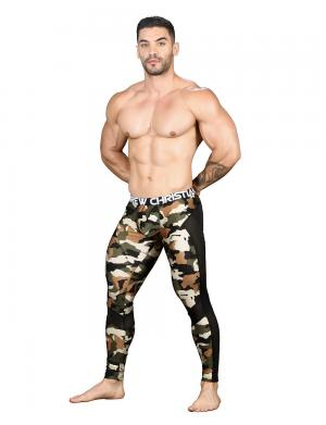 Andrew Christian Camouflage Mesh Legging w/ Almost Naked Camoufl