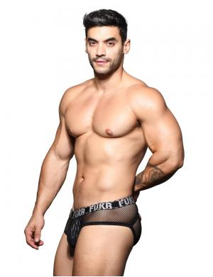 Andrew Christian FUKR Eclipse Mesh Brief Schwarz / Silber