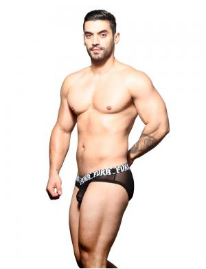 Andrew Christian FUKR Sheer Brief Schwarz