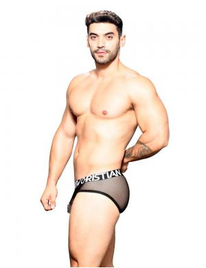 Andrew Christian Fishnet Brief w/ Almost Naked Schwarz