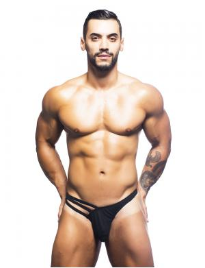 Andrew Christian Flare Thong w/ Almost Naked schwarz