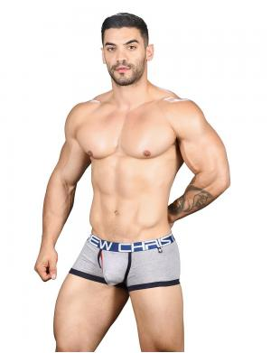 Andrew Christian Fly Tagless Boxer w/ Almost Naked Heather Grey
