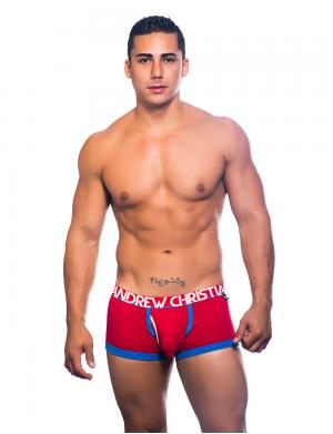 Andrew Christian Fly Tagless Boxer w/ Almost Naked rot