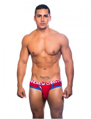 Andrew Christian Fly Tagless Brief w/ Almost Naked rot
