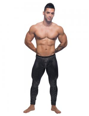 Andrew Christian Glam Mesh Legging w/ Almost Naked Schwarz / Sil