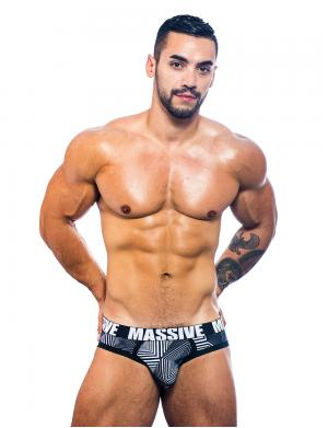 Andrew Christian MASSIVE Optic Brief Optischer Print