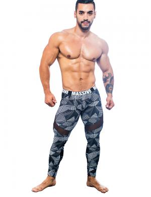 Andrew Christian MASSIVE Optic Legging Optischer Print