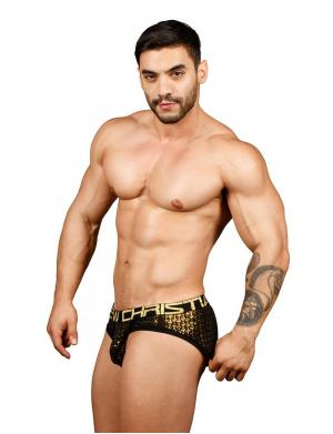 Andrew Christian Night Sparkle Brief w/ Almost Naked schwarz / g