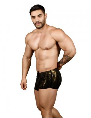 Andrew Christian Night Sparkle Dance Shorts schwarz / gold