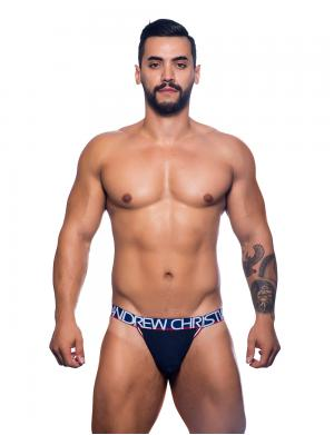 Andrew Christian Pro Varsity Jock w/ Almost Naked navy