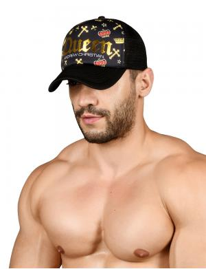 Andrew Christian Queen Cap schwarz / gold