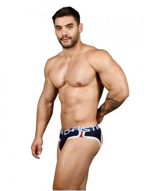 Andrew Christian Show-It Retro Pop Locker Room Jock navy