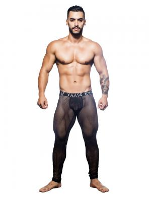 Andrew Christian Slay Net Legging w/ Almost Naked schwarz