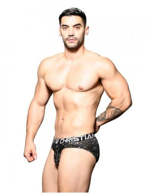 Andrew Christian Star Brief w/ Almost Naked Schwarz / Silber