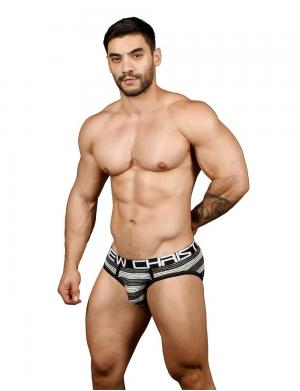 Andrew Christian Ultra Stripe Brief w/ Almost Naked schwarz / we