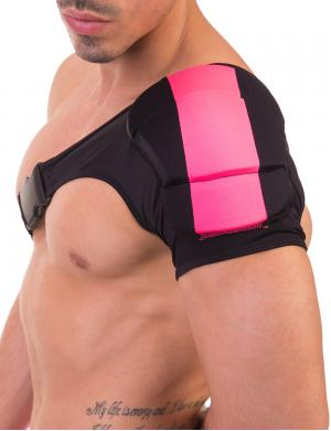 Barcode Berlin Disco Single Shoulder Pad Schwarz / Neonrosa