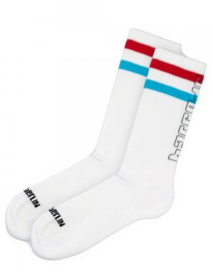 Barcode Berlin Fashion Socks 70s White / red / turquoise