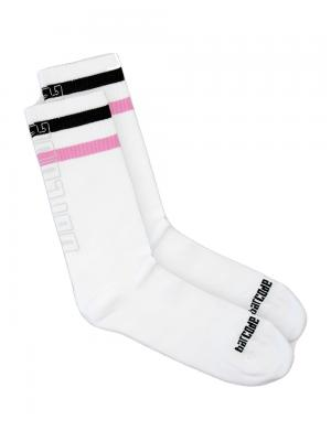Barcode Berlin Fashion Socks 70s White / black / pink