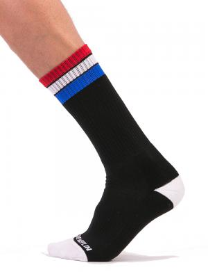 Barcode Berlin Fashion Socks Paris Schwarz / Weiß / Rot / Royal