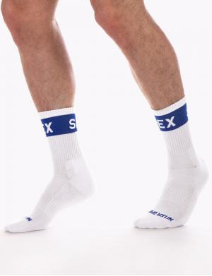 Barcode Berlin Fetish Half Socks SEX weiß / navy