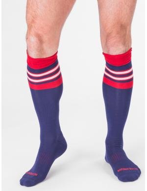 Barcode Berlin Football Socks Navy / Rot