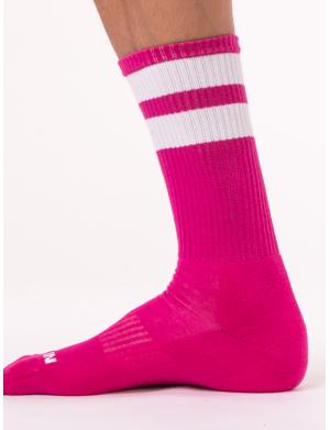 Barcode Berlin Gym Socks pink / white