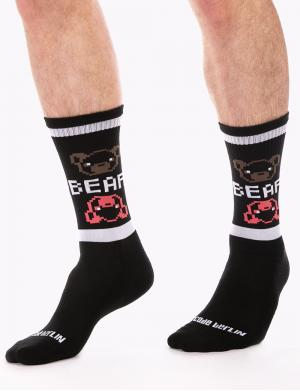 Barcode Berlin Gym Socks Big Bear black / white