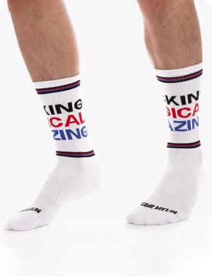 Barcode Berlin Gym Socks Fu**ing Magical Amazing white / black