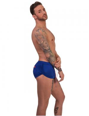 Barcode Berlin Mesh Short Costa Royalblau