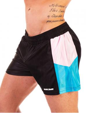 Barcode Berlin Short Bad Ass Schwarz / Rosa / Blau