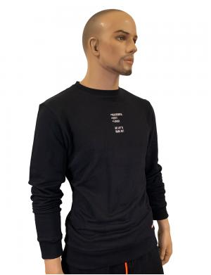 Barcode Berlin Sweater Lets Make out Schwarz