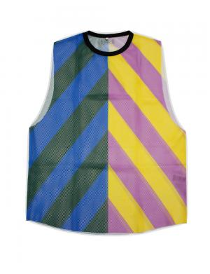 Barcode Berlin Tank Top Stripped Sunny Mesh bunt / gelb