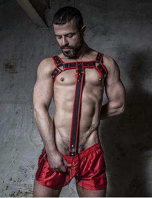 Boxer Barcelona Cockring Harness Extension rot
