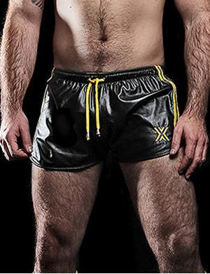 Boxer Barcelona Sexy Short Yellow Stripes schwarz / gelb