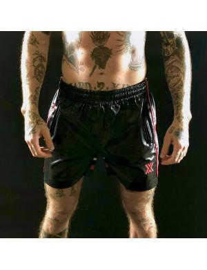 Boxer Barcelona Sexy X-Class Short Perforated Schwarz / Rot / We