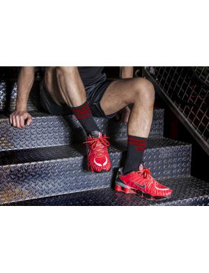 Boxer Barcelona Tennis Socks Scally schwarz / rot