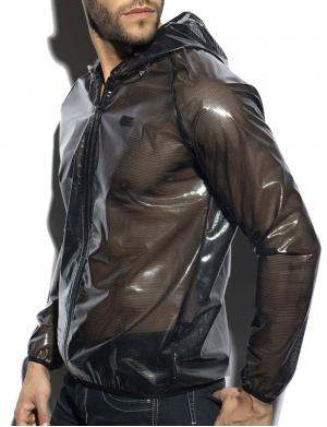ES Collection C-Through Jacket Schwarz