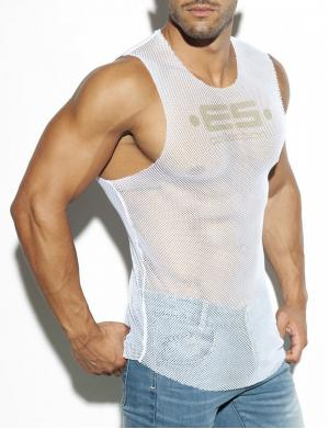 ES Collection Mesh Broad Tank Top weiß
