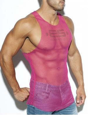ES Collection Mesh Tank Top fuchsia