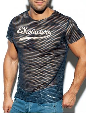 ES Collection Open Mesh T-Shirt navy