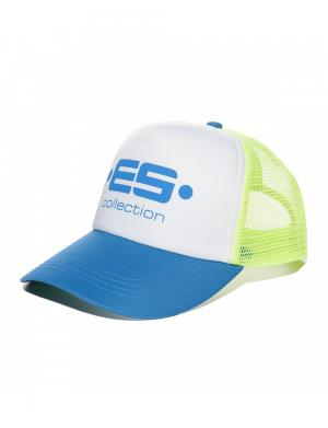 ES Collection Print Logo Baseball Cap Surf Blue