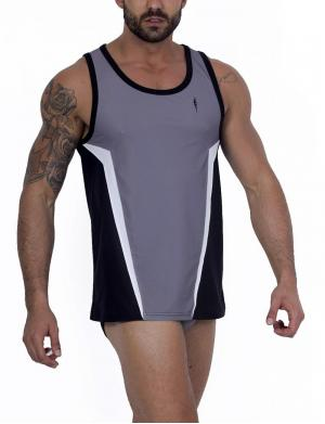 LEADER Contour Sports Tank top gray