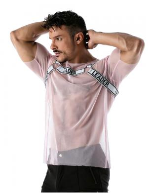 LEADER Mesh Harness T-shirt rosa