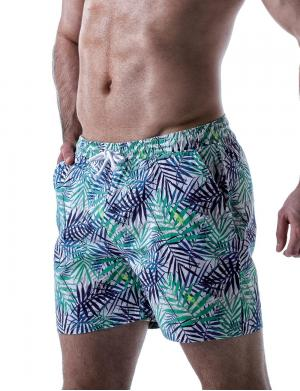 LEADER Tropical Shorts Grün / Blau