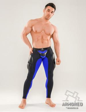 Maskulo Armored Next. Fetish Leggings. Detachable pouch. Zippere